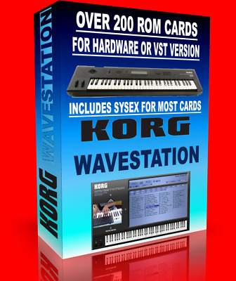 Korg Wavestation rom card collection . over 250 rom cards for legacy or hardware