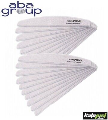 Aba Group Nail Files Block Files Acrylic Gel Tips Choose your grit Half Moon