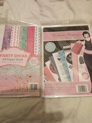 2 X packs Debbi Moore party divas new loads of papers