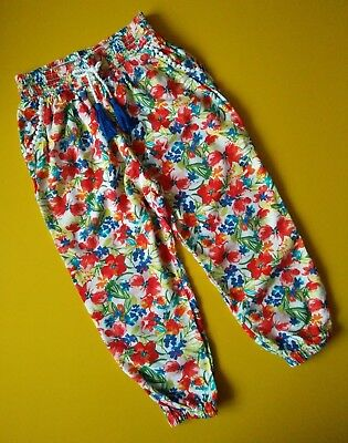 TU___floral trousers girl age 6 yrs VGC
