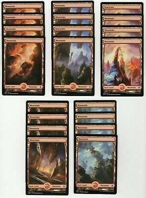 20x MOUNTAIN Full Art Basic Land NM/LP MTG Magic the Gathering Battle Zendikar