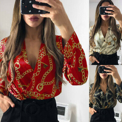 Womens amiga Floral Print Tuxedo Collared Wrap Over Satin Bodysuit Top UK 8-14