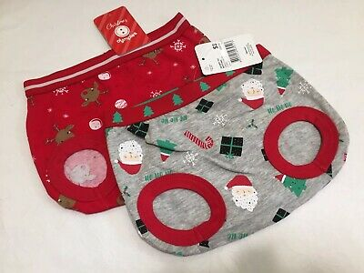 """Christmas Baby Nappy Covers x2 Santa & Reindeer Sz1 NEW"""