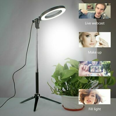 LED Studio Ring Light Photo Video Dimmable Lamp Light Tripod Selfie Camera UK