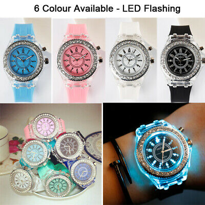 Digital Sport LED Watch Wrist Watches Flash Backlit Quartz Kids Boy Girls Child