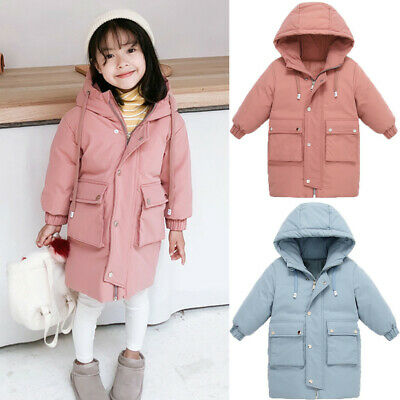 Kids Children Baby Winter Winter Warm Girls Boys Hooded Jackets Outerwear Coats