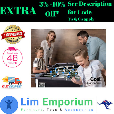 5FT Soccer Table Foosball Football Game Durable ABS Moulded Players Kids Adult