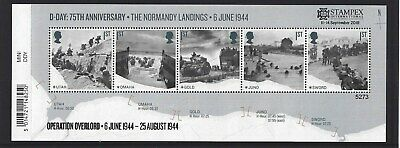 GREAT BRITAIN 2019 STAMPEX OVERPRINT D-DAY UM, MNH, No. 5273 LIMITED EDITION