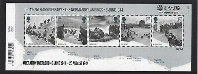 GREAT BRITAIN 2019 STAMPEX OVERPRINT D-DAY UM, MNH, No. 5274 LIMITED EDITION