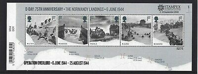 GREAT BRITAIN 2019 STAMPEX OVERPRINT D-DAY UM, MNH, No. 5275 LIMITED EDITION