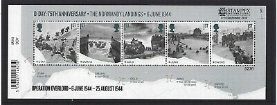 GREAT BRITAIN 2019 STAMPEX OVERPRINT D-DAY UM, MNH, No. 5276 LIMITED EDITION