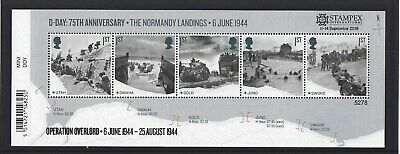 GREAT BRITAIN 2019 STAMPEX OVERPRINT D-DAY UM, MNH, No. 5278 LIMITED EDITION