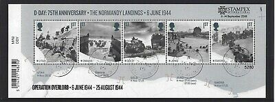 GREAT BRITAIN 2019 STAMPEX OVERPRINT D-DAY FINE USED, No. 5280 LIMITED EDITION