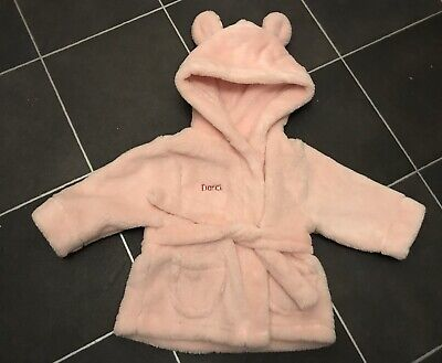 Personalised Dressing Gown Pink Darci Age 0-6 Months