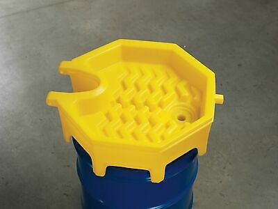 "Ultratech Drum Funnel,  Polyethylene,  5 gal. Total Capacity,  9"" Height,"