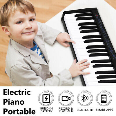 61 Keys Electronic Digital Piano Portable Keyboard Cordless Electric Music MIDI