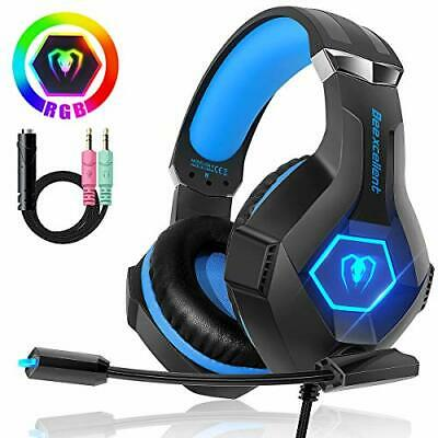 Beexcellent Gaming Headset für PC PS4 Xbox One, 7 Farbe RGB-LED Licht, (RGB)