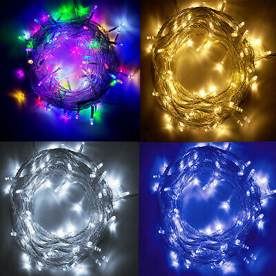 33ft 100 LED Christmas Tree Fairy String Lights Outdoor Garden Party  Decor Lamp