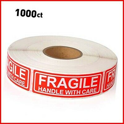 """Fragile - 1""""x3"""" Handle with Care Shipping Stickers, 1000 Labels Per Roll"""
