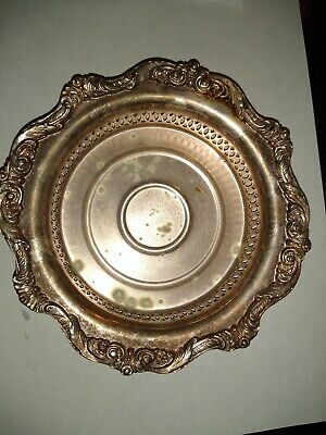 Towle Sterling Silverpla Decorative Openwork Floral Nut/Candy Dish or Bowl