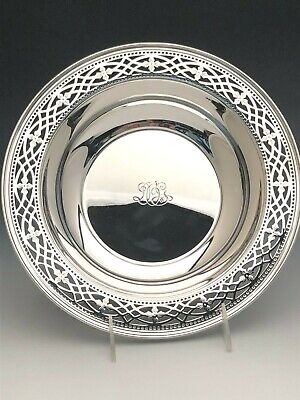 """Vintage Tiffany & Co.Sterling Silver 10.25"""" Pierced Fruit or Centerpiece Bowl"""