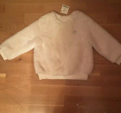 Next Cream Fluffy Jumper Bunny Motif Size 2-3years