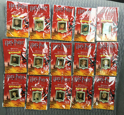 Harry Potter And The Goblet Of Fire Official Pin Collection (2005) Lot 15 Pins
