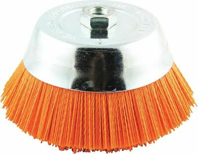 """6"""" Crimped Wire Cup Brush, Arbor Hole Mounting, 0.040"""" Wire Dia. 1-5/16"""" Bristle"""