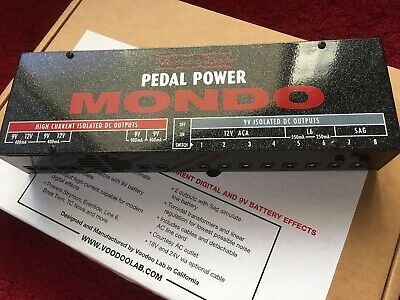 Voodoo Lab Pedal Power MONDO Power Supply Mint Gently tested Open Box!