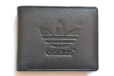 Mens Designer Genuine Cow Leather Wallet / Coin Purse / Bi fold Black