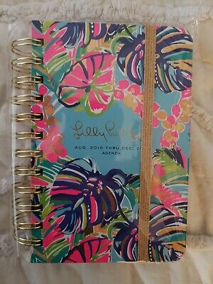 5X6.5 LILLY PULITZER 17 Month AUG 2016 - DEC 2017 Agenda Tropical Leaf 162319