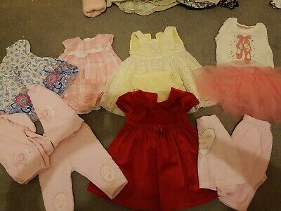 0-3 Baby Girls Bundle Dresses And Outfits