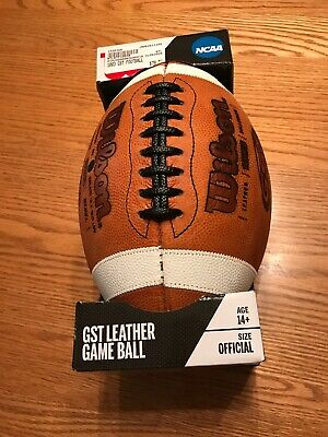 NEW Wilson 1003 GST NFHS NCAA Official Leather Game Football IN BOX BRAND NEW