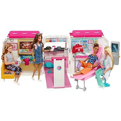 Barbie Care Clinic 2-in-1 Fun Playset for Ages 3Y Plus Kids Fun Play Sets New
