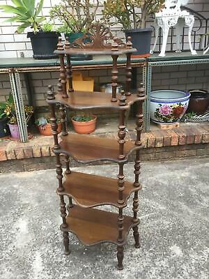 Vintage Ornate WHAT NOT STAND 5 Tier
