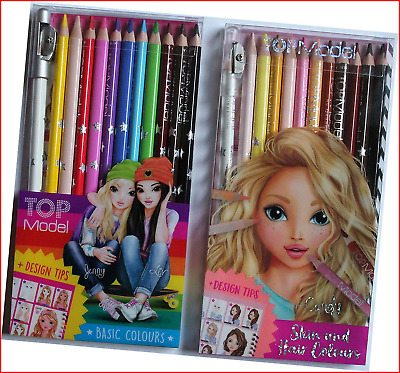Bundle Buy TopModel - Top Model Skin & Hair 12 Pencil Set & Top Model Coloured