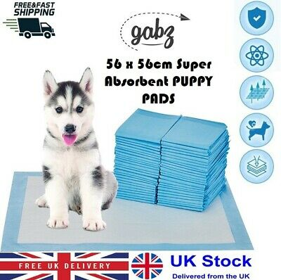 50/100/150- 56 x 56 CM Large Puppy Training Pads Toilet Pee Wee Mats Pet Dog Cat