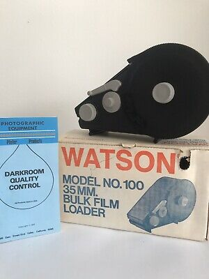 Watson Model 100 35mm Bulk Film Loader with Box and Instructions
