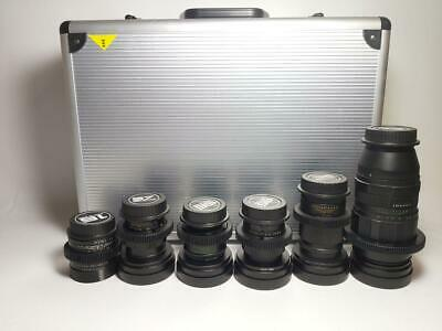 Set of 16 37 58 85 135 200mm Anamorphic Flare & Bokeh Lenses for CANON EF mount