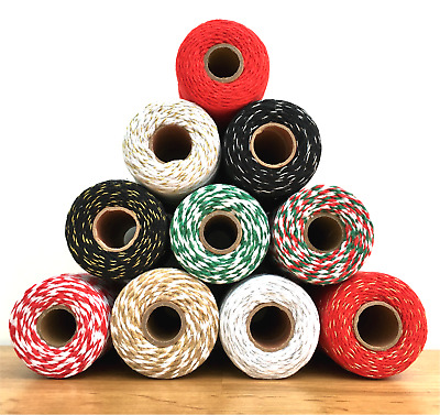 Habicraft Bakers Twine Craft, String / Cord For Christmas Gift Wrapping