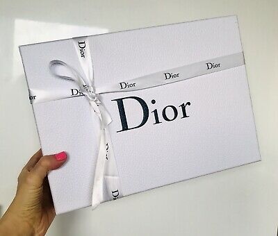 Dior large empty box, ribbon, tissue 28x38cm