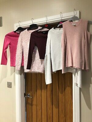 Girls Bundle Of Winter Clothes Aged 9-10 Years X 14 Items