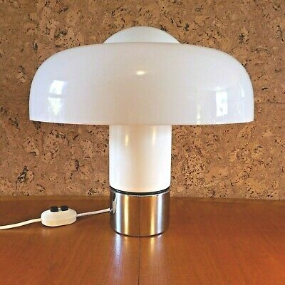Large Mid Century Modernist Brumbury Guzzini Table Lamp. Luigi Massoni Space Age