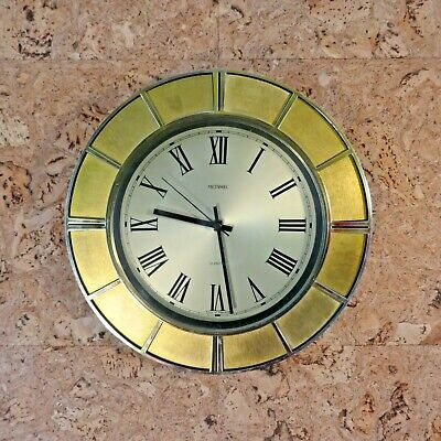 Vintage Retro Mid Century Metamec Quartz Wall Clock. Full Working Order.Battery.