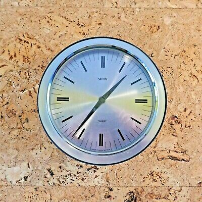 Vintage Retro Mid Century Smiths Wall Clock. Full Working Order.Battery Operated