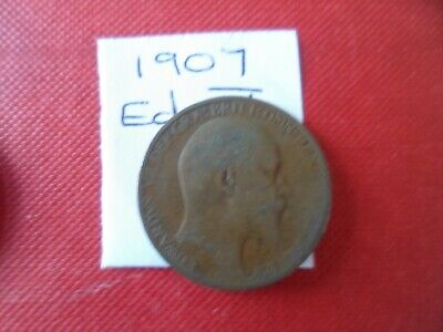 1907 Edward Vii Halfpenny Coin - Please See Photo's For Idea Of Condition