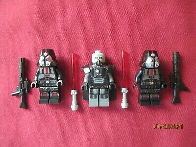 LEGO Star Wars Minifigures LOT, Darth Malgus  , Sith Troopers & Weapons