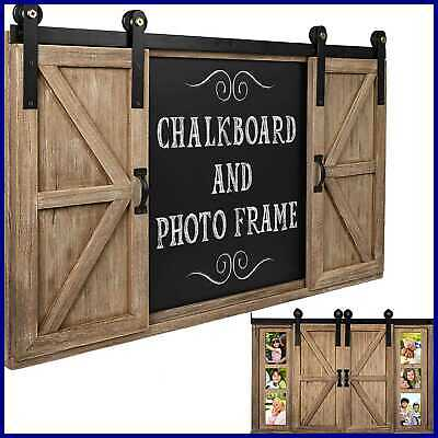 Country Chalkboard Message Board Thankful For Burlap And Wood Rustic Decor New