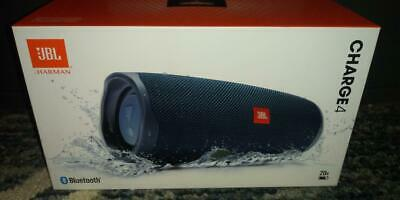 JBL CHARGE 4 Portable Bluetooth Speaker, BLUE, INCREDIBLE SOUND, NEW, FAST SHIP