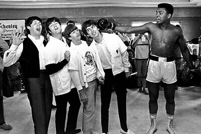 The Beatles - Muhammad Ali - 1965 - Portrait Poster